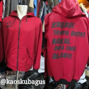 jaket fleece pe  dengan variasi sablon