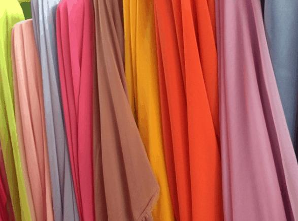 jenis kain sifon aneka warna